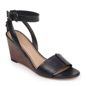 Splendid Tadeo Leather Wedge Ankle Strap Sandal